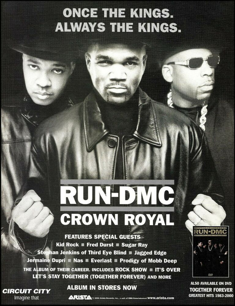 Run Dmc 2001 Crown Royal Album Advertisement 8 X 11 Arista Records Ad Print Aristarecords In 2020 Run Dmc Arista Records Jermaine Dupri