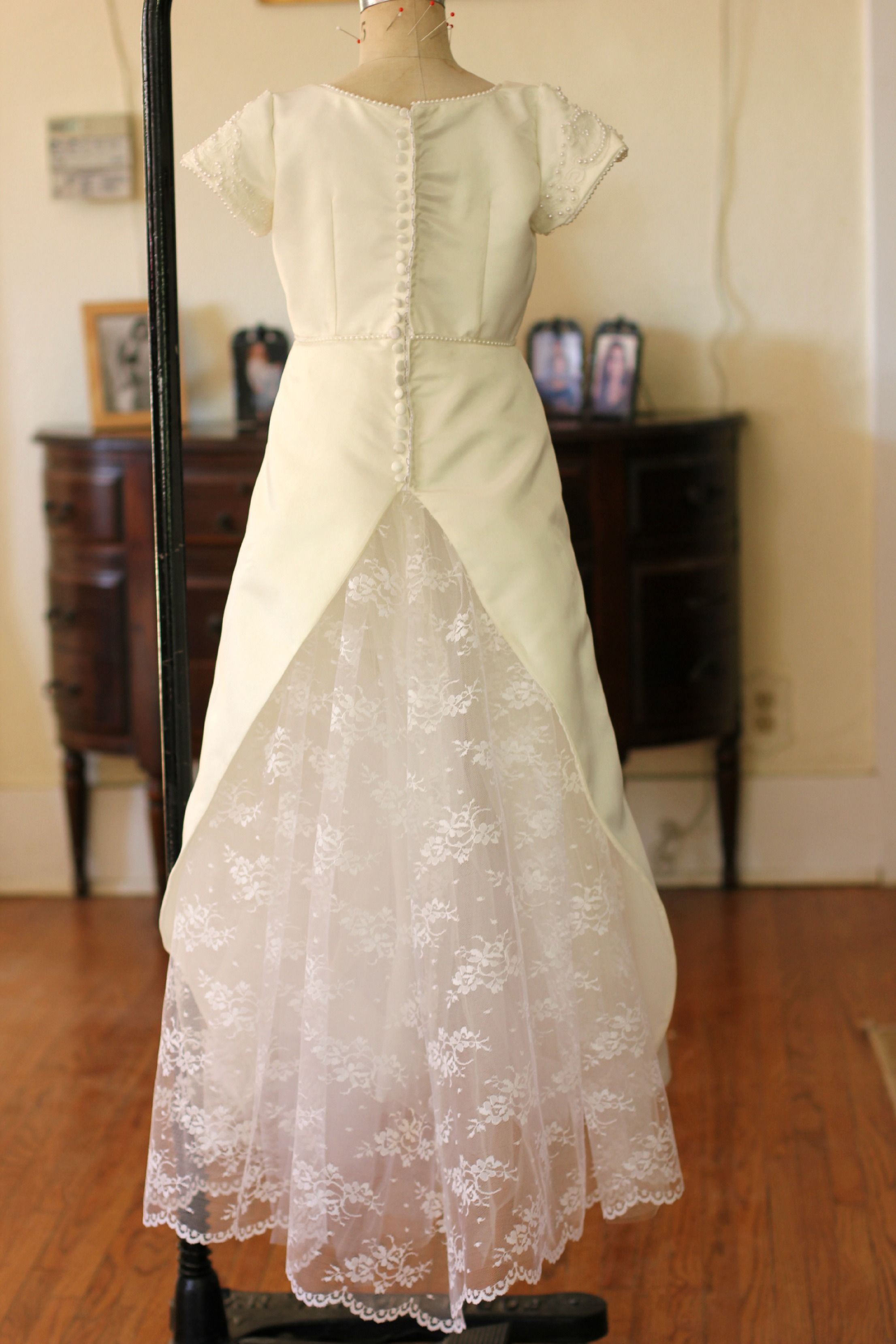 Repurpose wedding dress  What a unique use of Moms wedding gown Description from