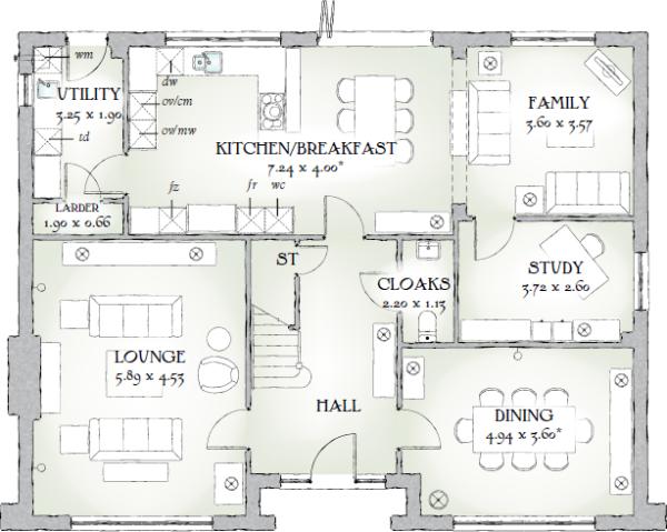 Redrow Homes The Highgrove Floorplan Google Search House Floor Plans Redrow Homes