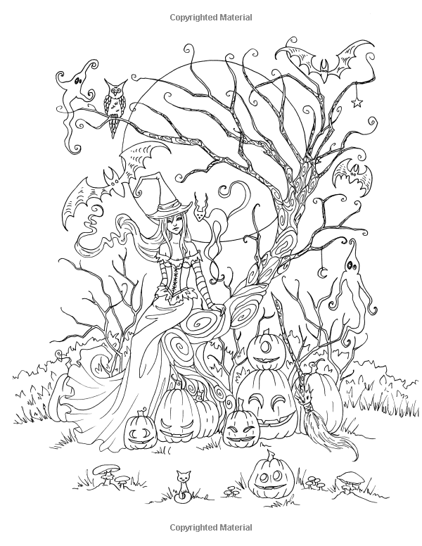 Halloween Faeries Coloring Book Amy Brown 9781537067582 Amazon Com Books Coloring Books Faeries Color