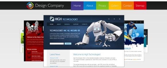 25 Free Html Css Web Templates Website Template Web Design Packages Web Design Agency