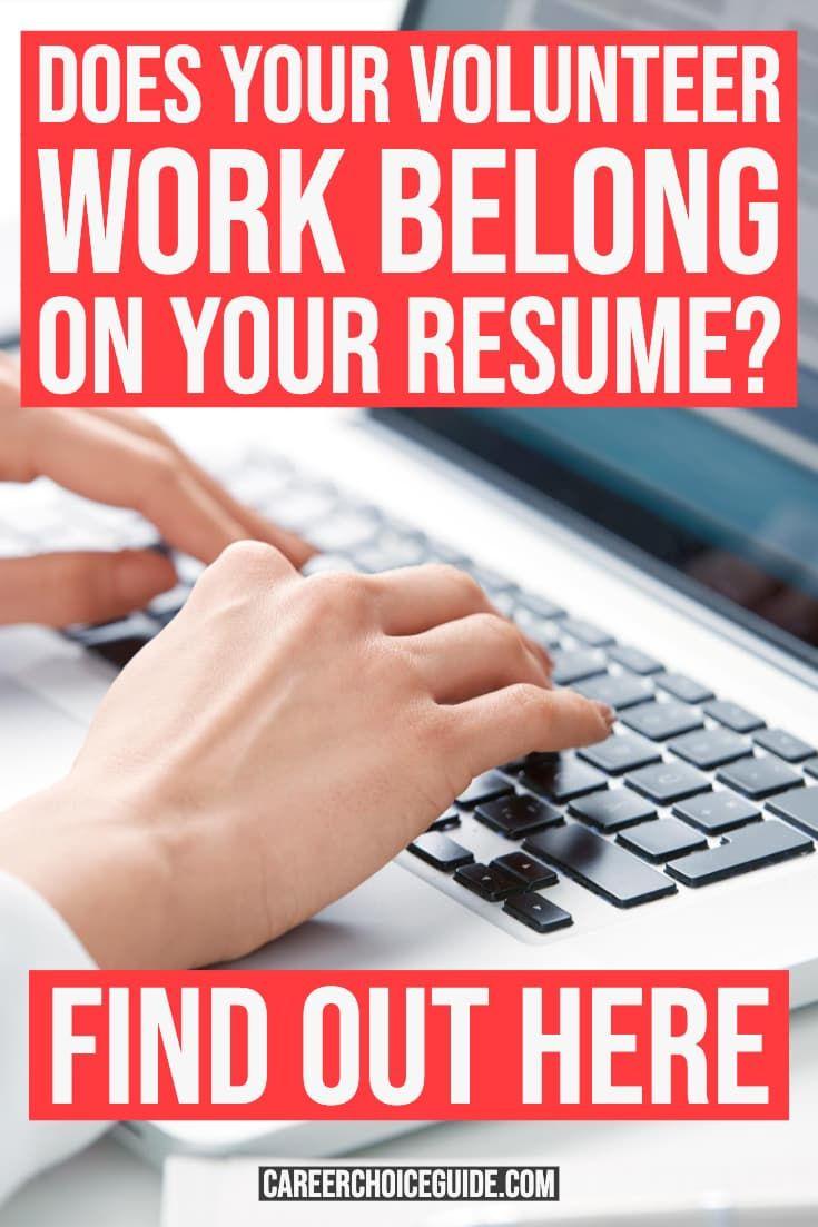 Do you include volunteer work on your resume volunteer