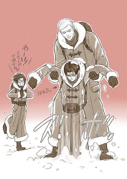 erwin smith levi shingeki no kyojin アニメ系 pinterest