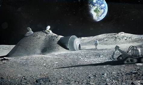 How 3-D printers could build a futuristic moon colony (Photo: ESA / Foster + Partners)