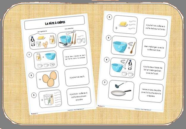 Recette de la p te cr pes cycle 2 exercices gs cp ce1 - Atelier cuisine maternelle ...