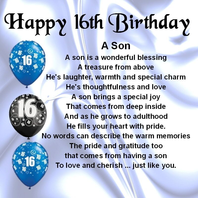 16th Birthday Images For Son, 16th Birthday Wishes For Son