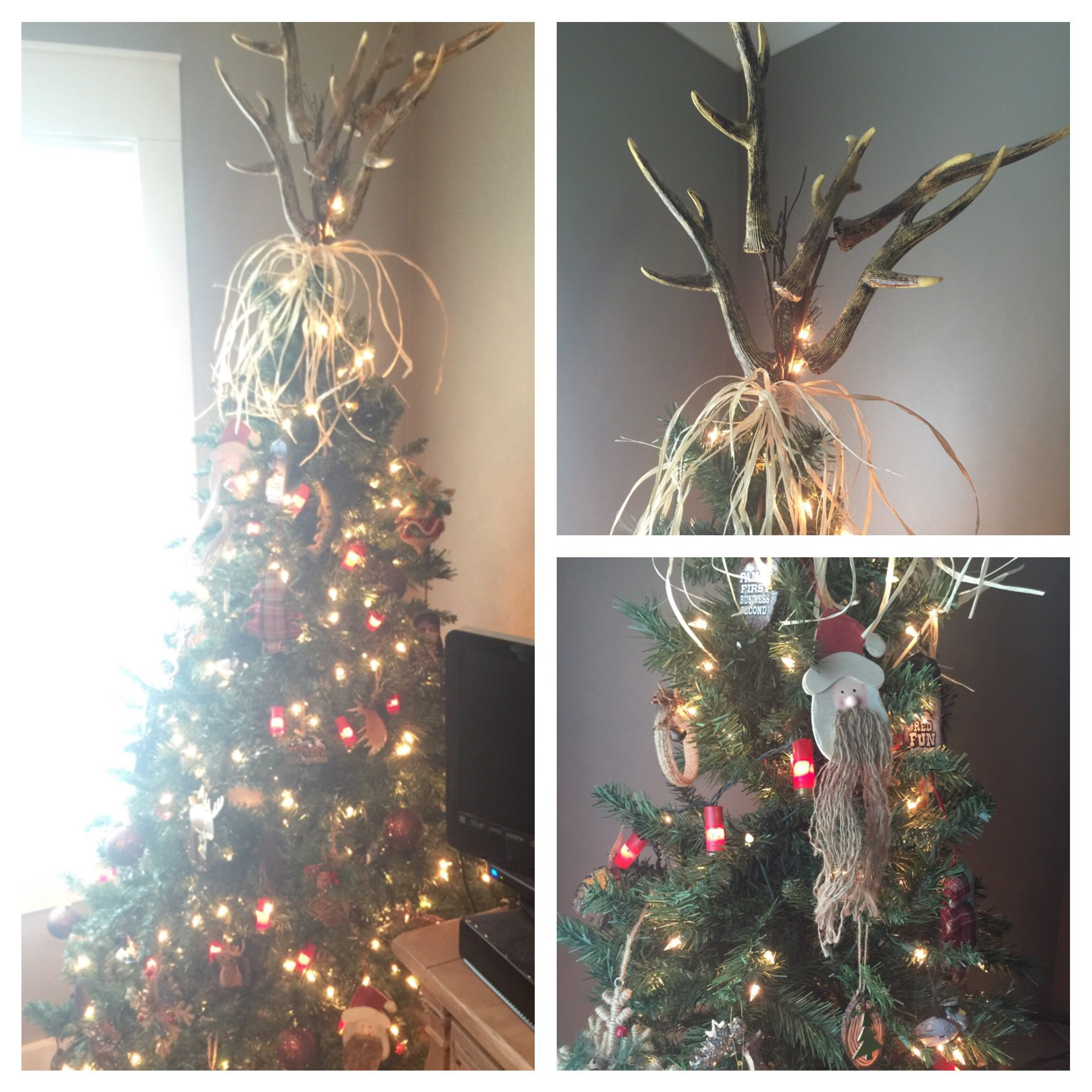 Christmas Tree Made Of Deer Antlers: Deer Antler Christmas Tree Topper