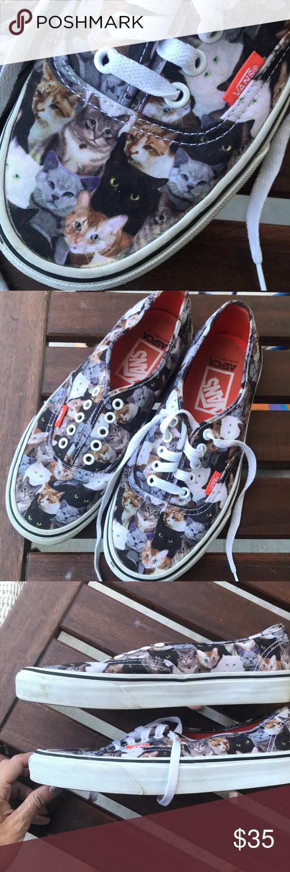 Rare Aspca Cat Kitten Vans Sneakers Vans Sneakers Vans Sneakers