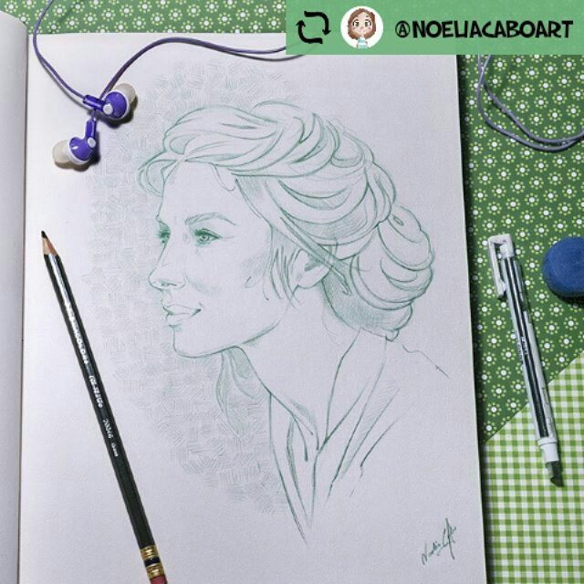 @noeliacaboart . [ENG] I can't sleep tonight... Again. I spend my time drawing the fantastic Claire Fraser ❤