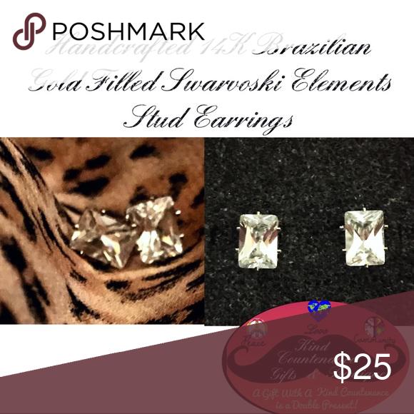 14k Gold Filled Swarovski Earrings Boutique Earrings Swarovski