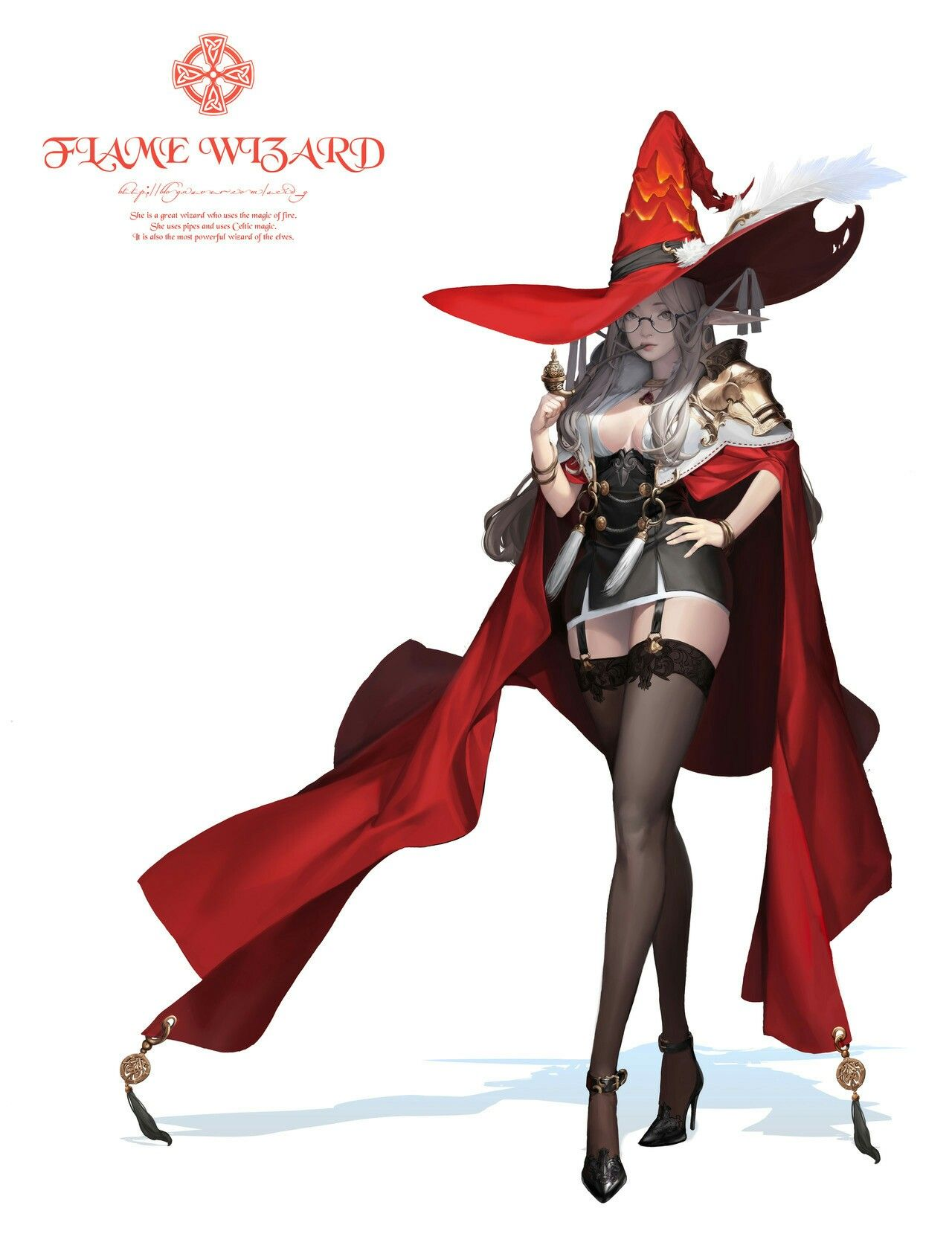 Flame Order Mage Fantasy Character Design Concept Art