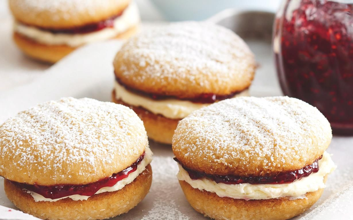 Monte carlo biscuits is part of Monte carlo biscuits - Make your own homemade biscuits with the best Monte Carlo biscuit recipe, complete with a cream & jam filling  just like the classic Arnott's cookie