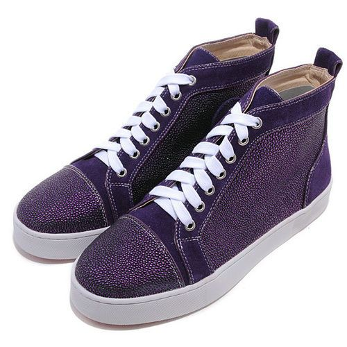 388364d58121 Christian Louboutin Louis Strass Men Sneakers Purple Red Bottom Shoes