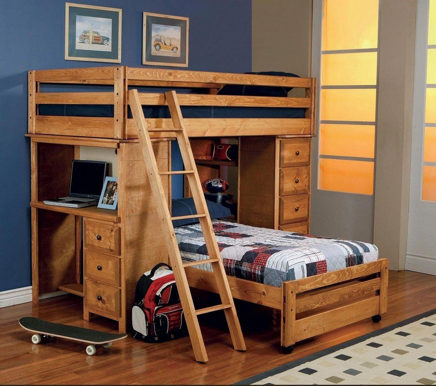 Loft bed organization ideas  Bunk Bed Ideas For Small Spaces bunkbedideasforsmallrooms  bunk