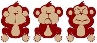 Hear No Evil Speak No Evil See No Evil Monkeys Monkey Art Wise Monkeys Three Wise Monkeys