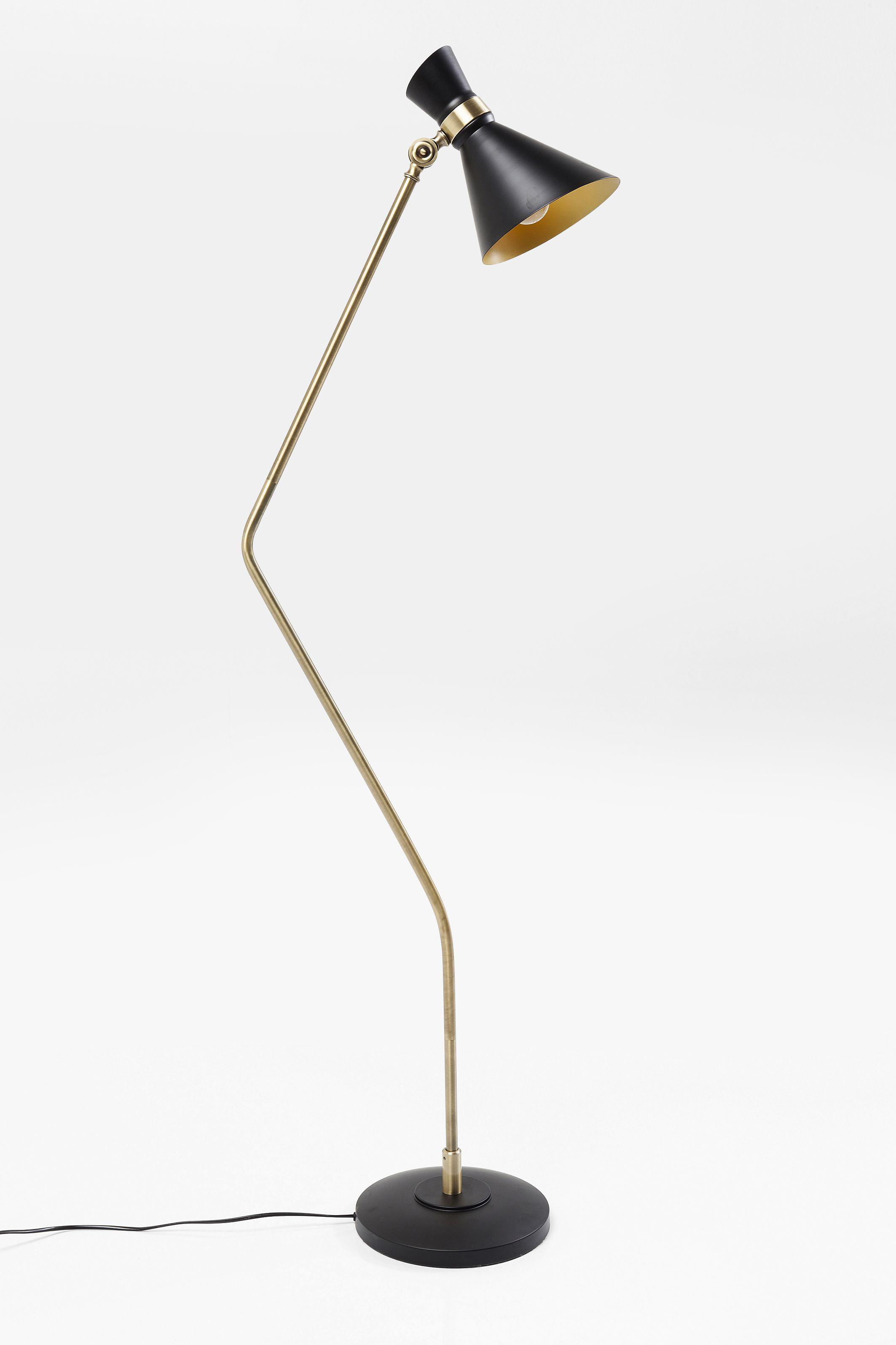Kare Retro Stehlampe Skagen Schwarz Messing In 2020 Stehlampe