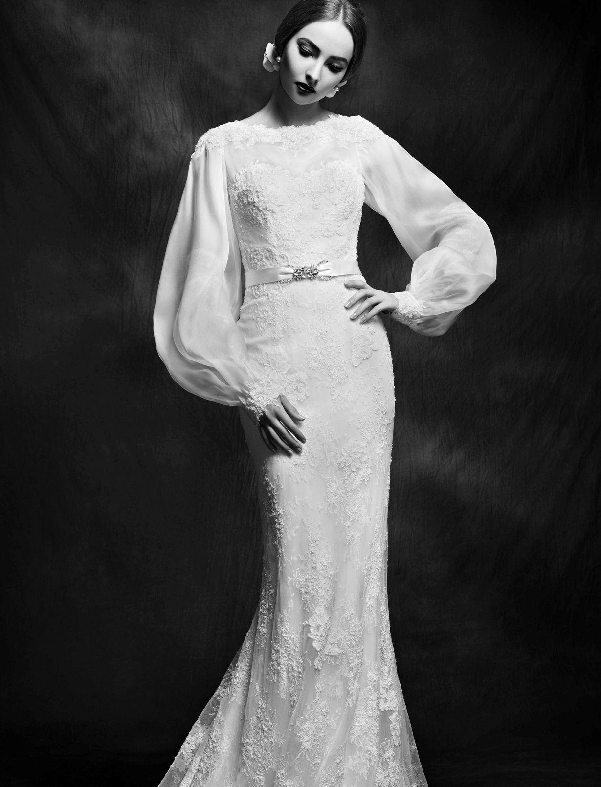 Lusan Mandongus 2015 | Modest/Tznius Wedding Gowns for the Kosher ...