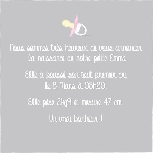 Annonce De Naissance Texte