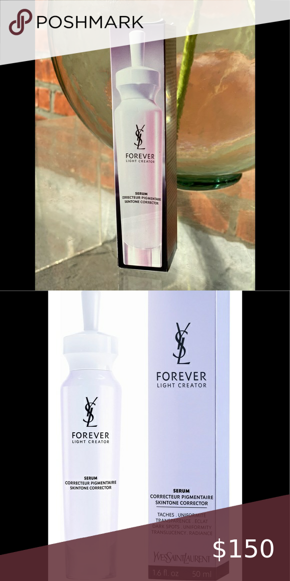 Forever Light Creator Skintone Corrector Serum Imperfections Dark Spots Redness Visibly Reduced Yves Saint Laurent Makeup Skin Care Women Uneven Skin Tone