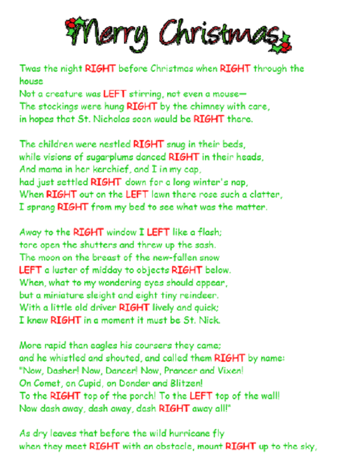 graphic about Left Right Christmas Game Printable named Pin upon Xmas