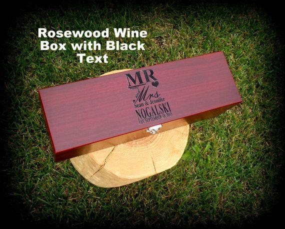 Wine gift box wedding wine box personalized bride & groom gift 5th