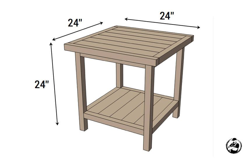 Simple Square Side Table Free Diy Plans Bedside Table Plans Diy Side Table Bedside Table Diy