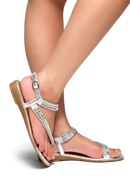 Herstyle Women's Talluto Rhinestone Bohemian Slip On Flip