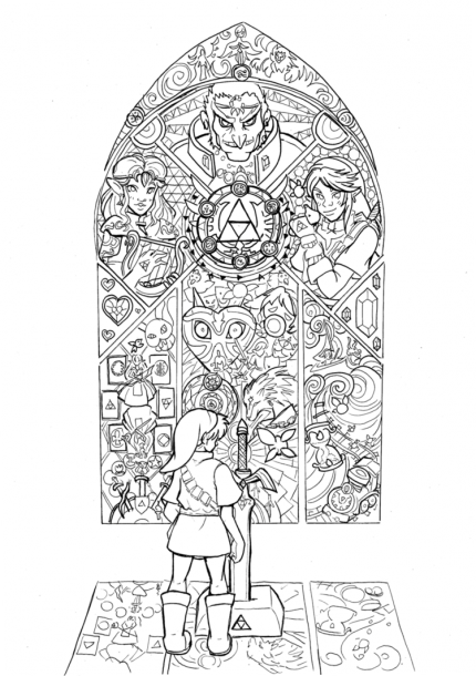 Young Link Coloring Pages Photos