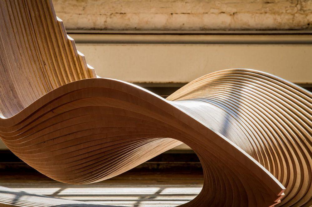 DIWANI rocking chair calligraphie par AE Superlab Chaise fauteuil