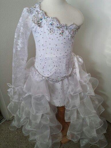 Medium glitz high/low pageant dress www.royaltydesigns.net