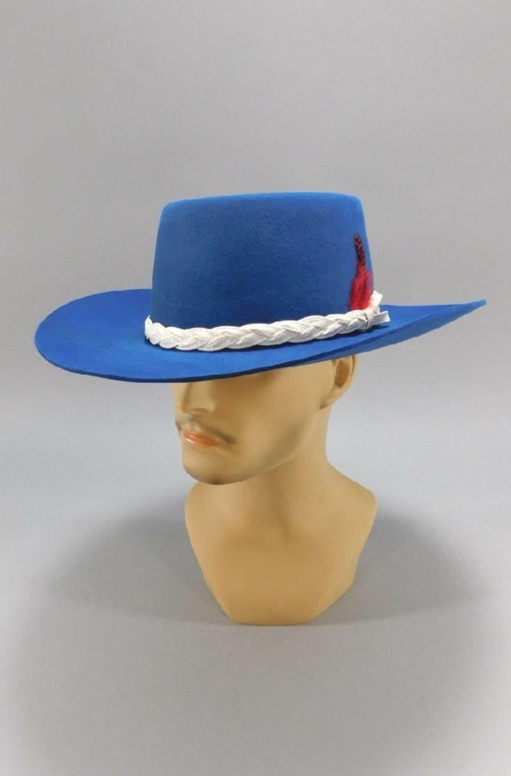 1950 s Vintage Blue Cowboy Hat by Lion Hats - Size 7-1 4  50s  1950s  1960s   60s b5389f583d8a