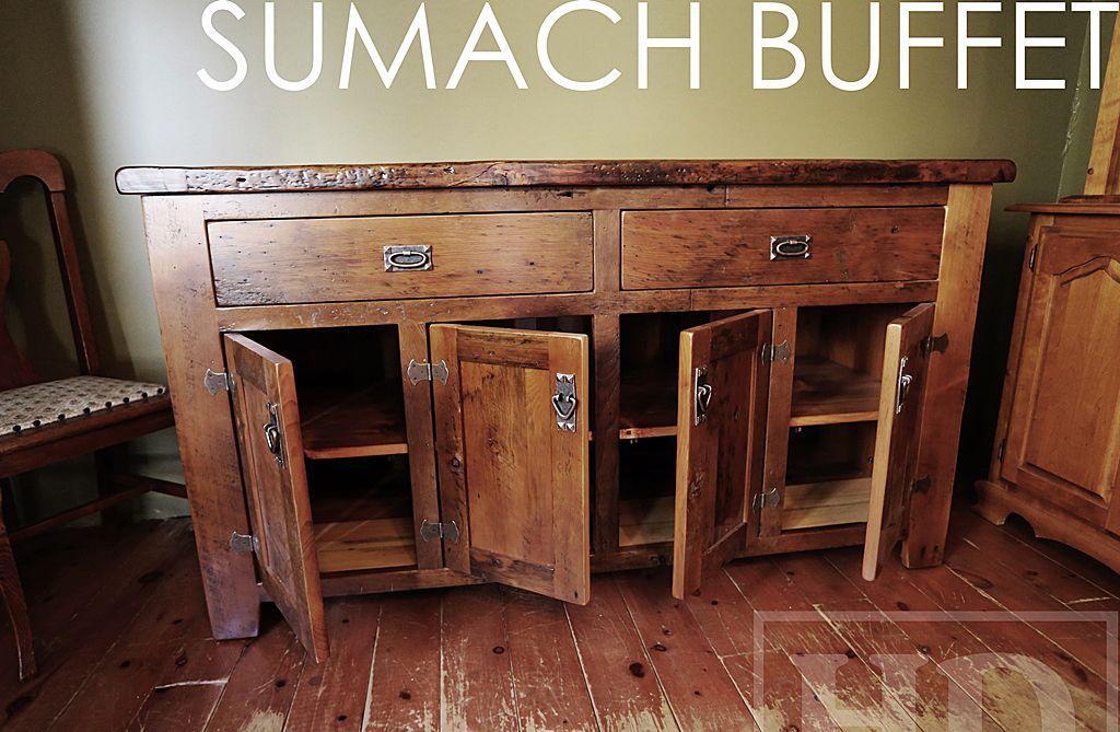 Custom Reclaimed Wood Buffet Console Sofa Side Table Local