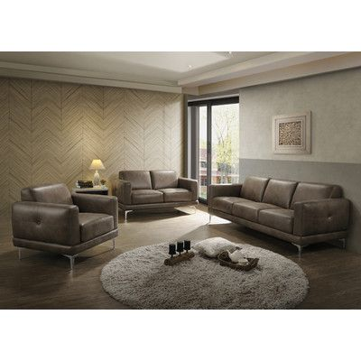 Mercury Row Decamp Leather Living Room Collection