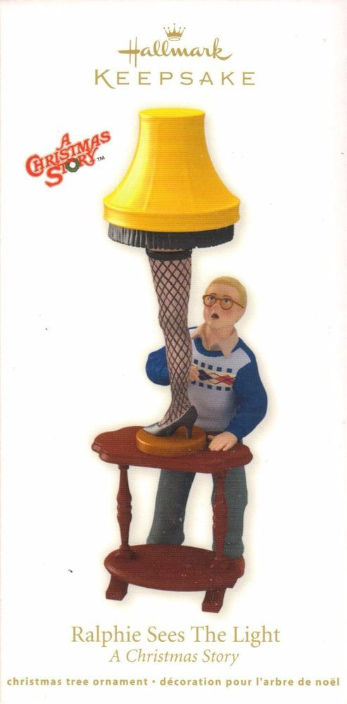 Hallmark Ralphie Sees The Light Ornament Leg Lamp Classic Movie Christmas  Story