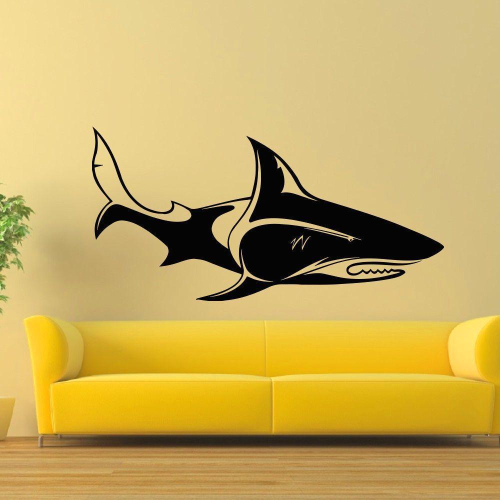 Undersea world Shark Wall Art Sticker Decal | Wall Decal Ideas ...