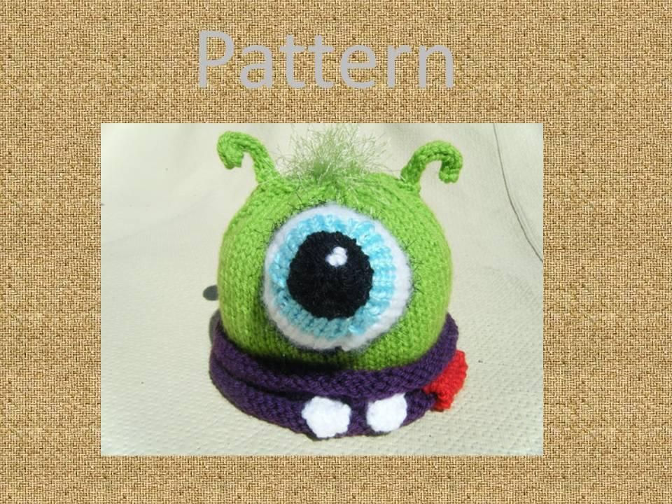 Knit Baby Monster Hat Monster Hat Knitted Baby And Monsters