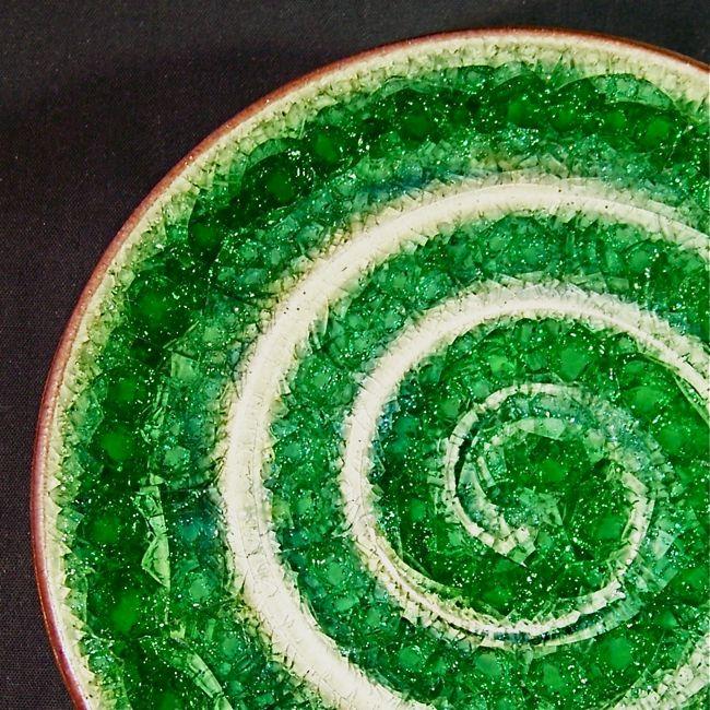 recycled glass pottery glaze #potteryglazes