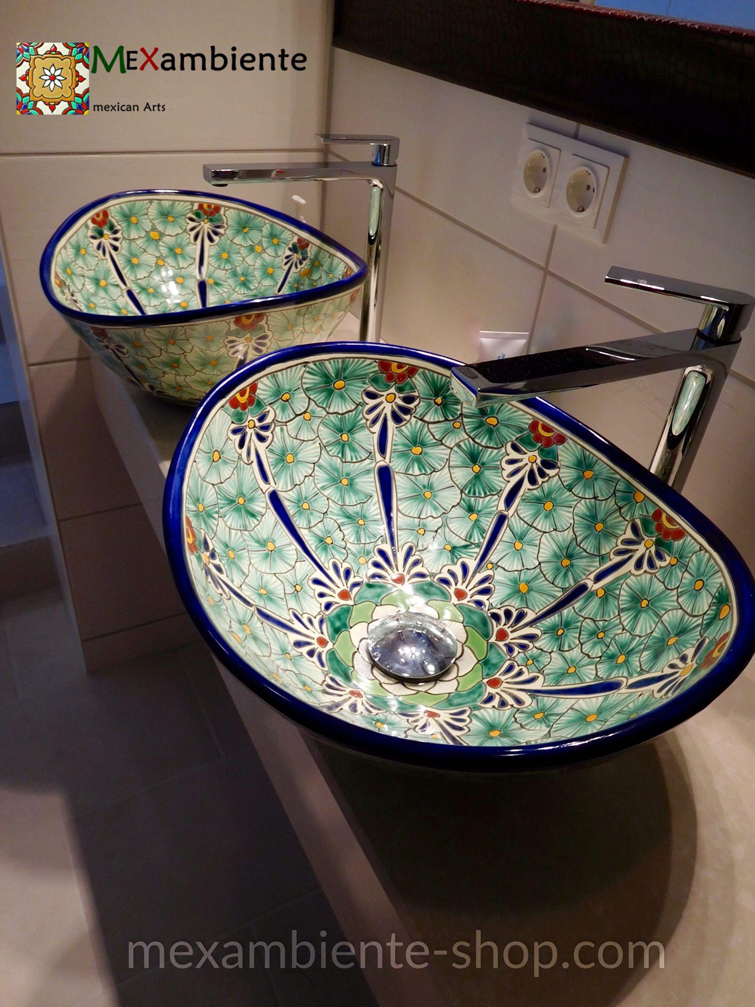 Gute Laune Im Badezimmer! Bunte Mexikanische Waschbecken Von Mexambiente In  Deutschland Www.mexambiente Shop.com #exotisch #badezimmer #badideen ...