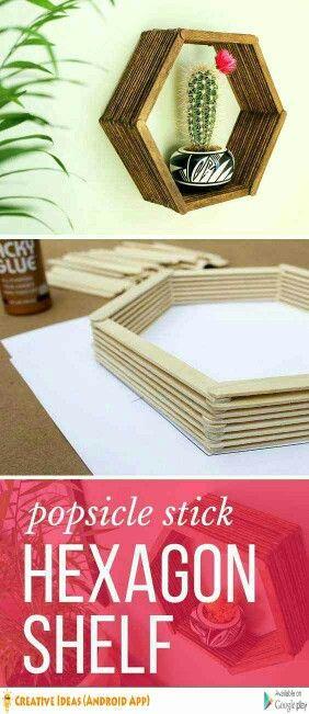 Con palitos de helado Home Ideas Pinterest Craft, Room decor