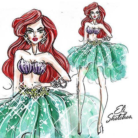 #Repost @elistjohn with @repostapp. #Elisketches Glammed Up Disney Princesses!