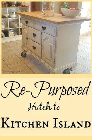 Re-purposed Hutch to Kitchen Island