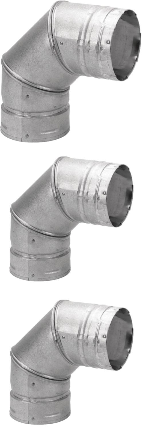 Fireplace Vent fireplace vent pipe : Stove and Chimney Pipes 175803: 3-Inch Steel 90-Degree Chimney ...