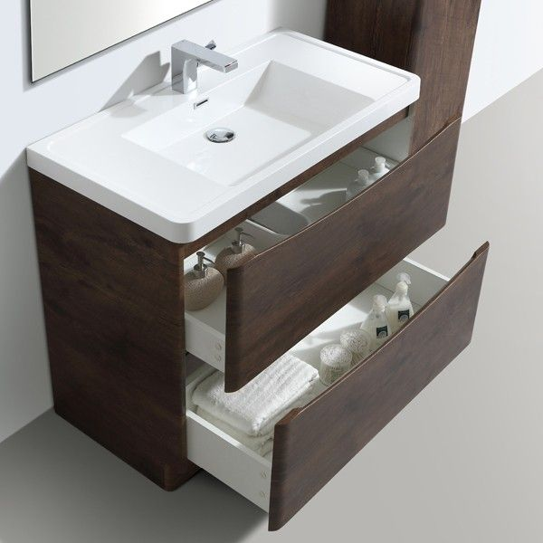 zenith bali chestnut vanity unit 900mm - floor standing vanity