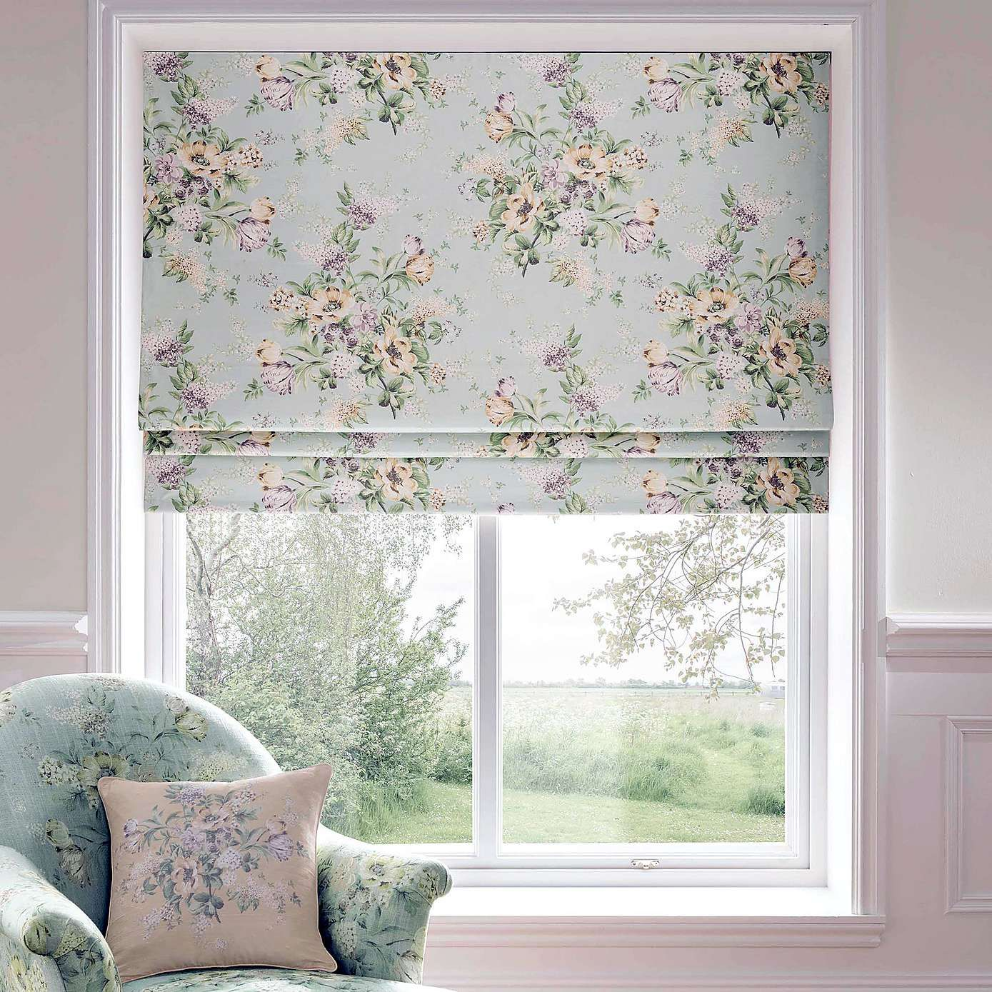 dorma brympton duck egg roman blind dunelm curtains in. Black Bedroom Furniture Sets. Home Design Ideas