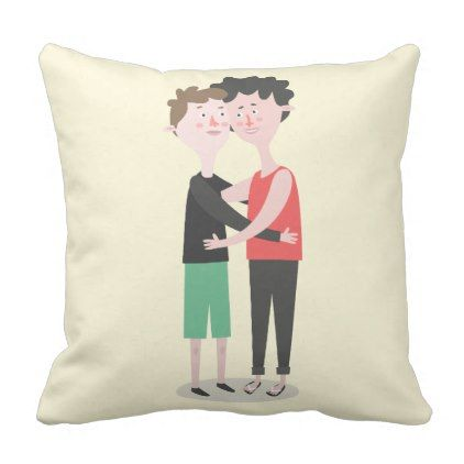 yellow and brown gay pride valentine's day pillow - valentines day, Ideas