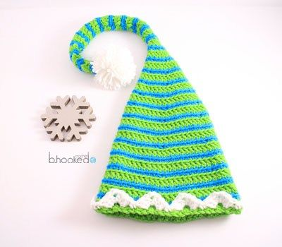 Crochet Elf Hats For The Entire Family Free Pattern And Video