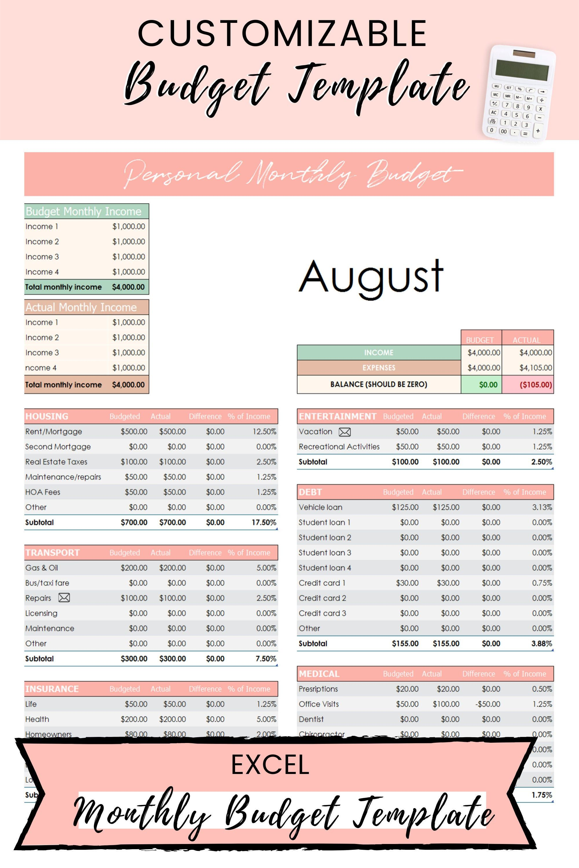 Excel budget template dave ramsey budget template