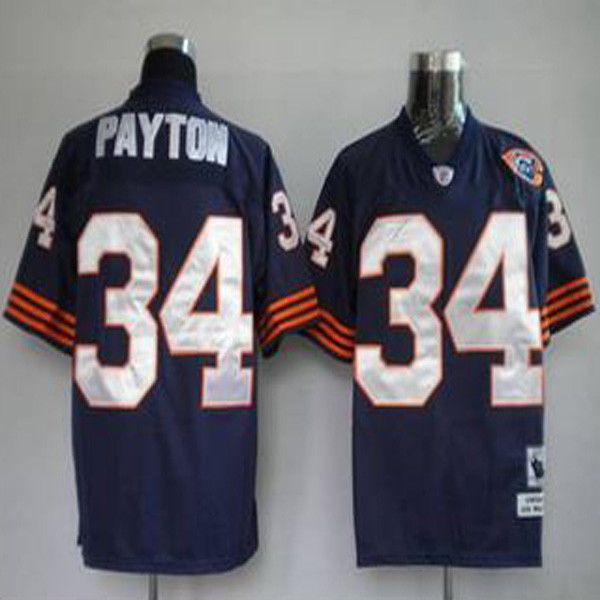 pretty nice f79a8 589d9 Mitchell & Ness Bears #34 Walter Payton Blue With Big Number ...