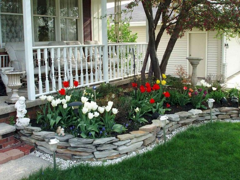 20 Gorgeous Front Yard Landscaping Ideas On A Budget Front Yard Landscaping Design Porch Landscaping Front Yard Landscaping
