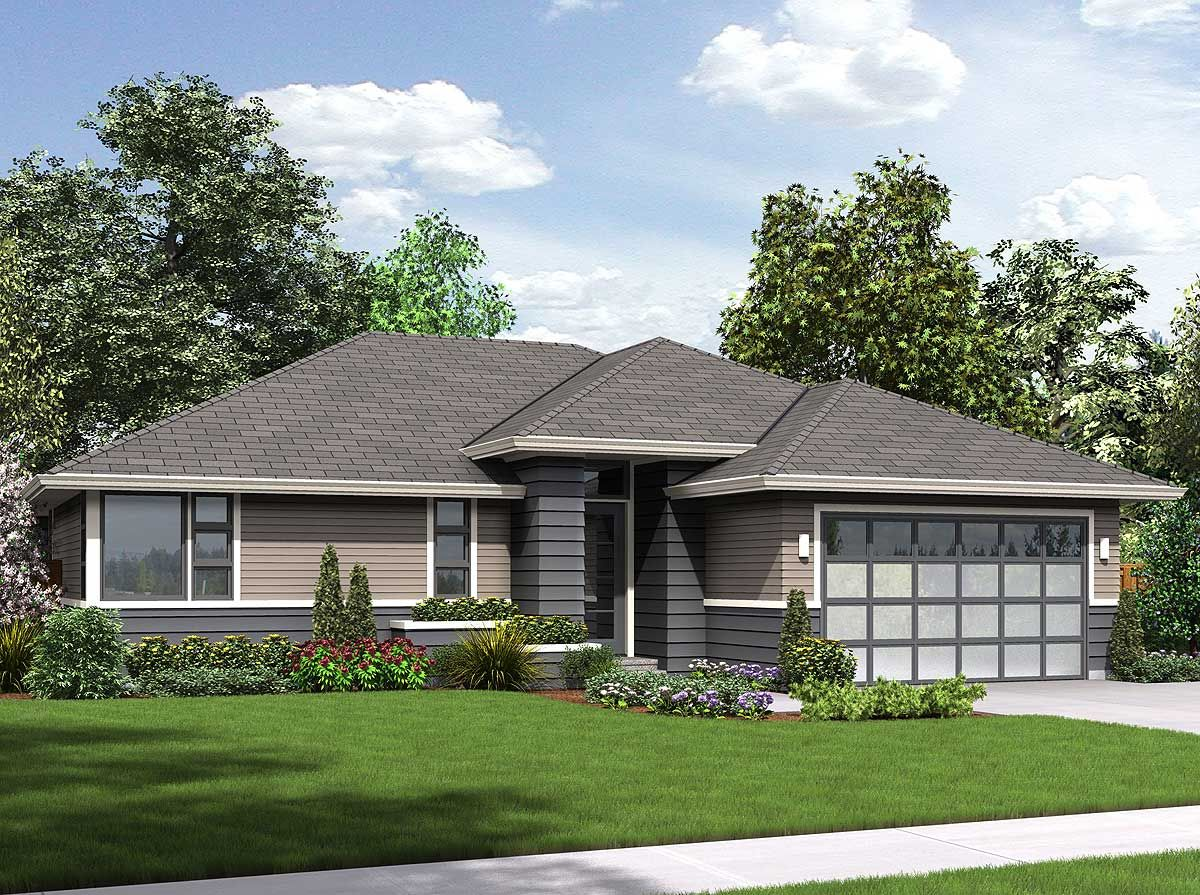 Plan 69540am Classic With A Contemporary Twist In 2021 Ranch House Designs Ranch Style House Plans Ranch Style Homes